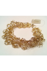 Złota bransoleta 12