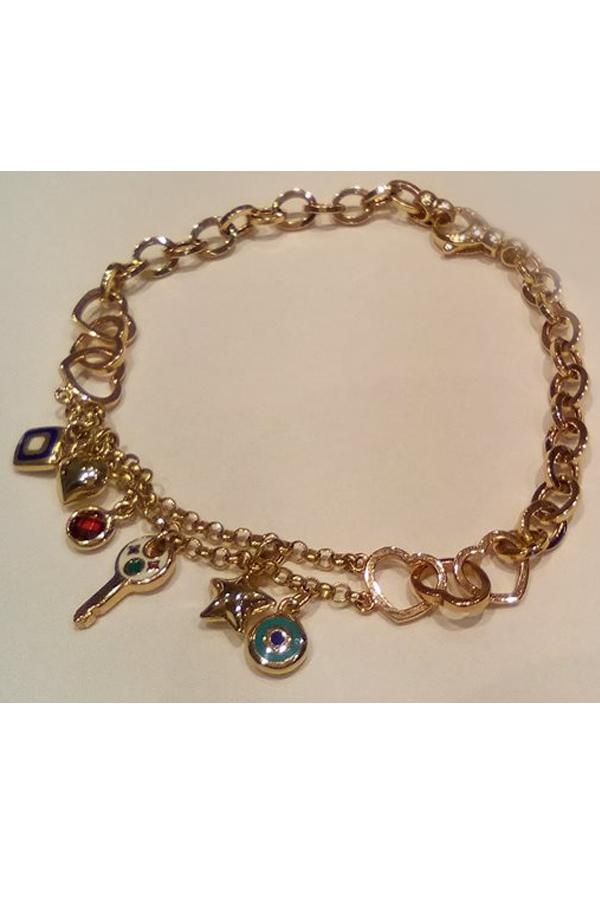 Złota bransoleta 15